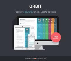 Orbit     Free Responsive Bootstrap Resume CV Template for Developers