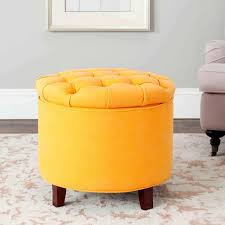 modern ottoman table furniture yellow storage ottoman with wooden legs fileove