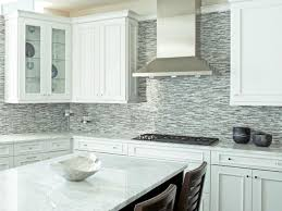 White Tile Kitchen Backsplash Interior Stunning Open Kitchen Design Using White Cream Mosaic