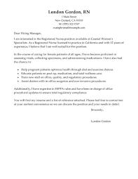 Full Charge Bookkeeper Cover Letter Sample Best Registered Nurse Cover Letter Examples Livecareer