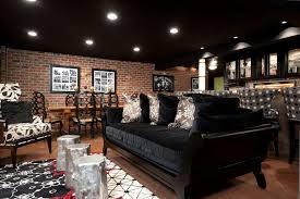 Black Ceiling Basement by Black Ceiling Basement Ideas Basement Contemporary With