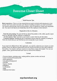 Best Job Sites To Post Resume by Use Our Perfect Resume Cheat Sheet My Cheat Sheet