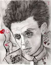 Stars Portraits - Portrait of Egon Schiele by Yael-Assia - 1 - egon-schiele-1-by-Yael-Assia