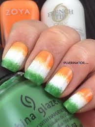 irish flag sponge art 21 fun sponge nail art ideas for girls u2026