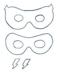 super hero paper masks children kids fun making