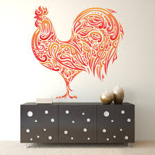 rooster wall decal sticker colorful rooster wall decal zoom