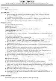 Breakupus Prepossessing Chronological Resume Sample Administrative     Break Up