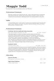 Customer Service Lead Lead Sales Associate Resume Samples