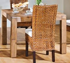 dining room rattan dining chairs with wooden dining table for