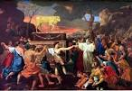 Enter the Bible - Images: The Adoration of the Golden Calf, Poussin enterthebible.org
