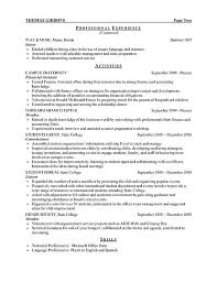 coursework cv FAMU Online     Example Resume  Experience And Education Or References For Objective On Your Resume  Objective On
