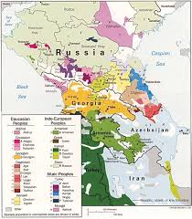 Map Of Russia And Europe by Caucasus Mountains