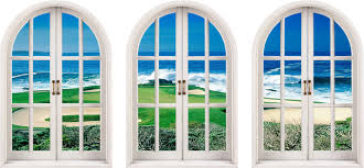 Golf Murals by 26 Castle Window Wall Decal Pink Castle Windows Wall Decals