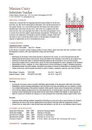 Occasional resume teacher Math rubric