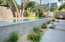 concrete swimming pool construction for small garden layout plans