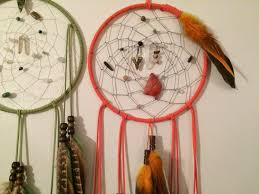 dakota sioux dream catcher orange dream tribal home decor