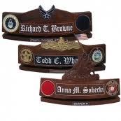 Custom Desk Name Plates by Custom Wood Desk Name Plates Deskideas