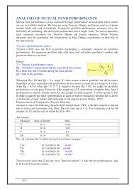 Cheap write my essay performance analysis of mutual fund   www