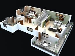 2 story 3d floor plan and plans with adfcfeb bedroom house 2017