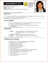 Career Goals Examples For Resume by Valuable Design Ojt Resume 1 Sample Resume For Ojt Resume Example
