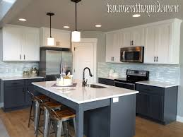 grey kitchen cabinets ikea oval white spray paint wood dining