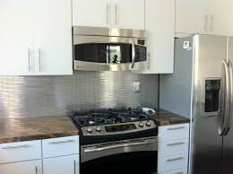 kitchen style stainless steel peel and stick backsplash tiles