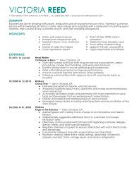Unforgettable Server Resume Examples to Stand Out   MyPerfectResume My Perfect Resume