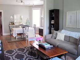 good living and dining room interior design with simple layout