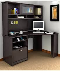funiture corner office desk ideas using corner black oak wood