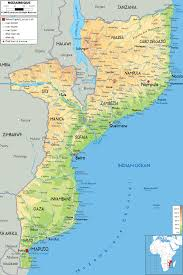 Physical Map Of Africa by Maps Of Mozambique Map Library Maps Of The World