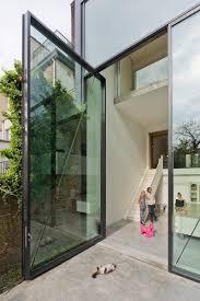 catflap in glass door glass pivot door