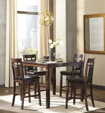 Counter Height Dining Room Tables by Bennox Brown 5 Piece Counter Height Dining Room Set From Ashley