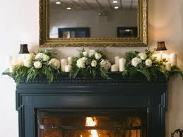 interior white concrete fireplace mantels with stone white