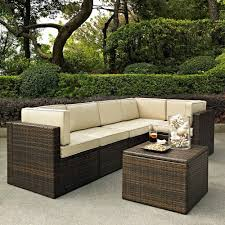 Outdoor Seating by Crosley Furniture Palm Harbor 6 Piece Outdoor Wicker Seating Set