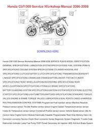 honda cbf1000 service workshop manual 2006 20 by mistymcneill issuu