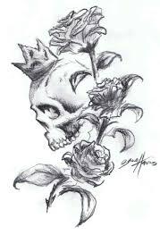 owl roses and skull tattoos sketch tattoobite com