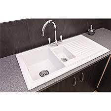 Reginox RLCW  Bowl White Ceramic Reversible Kitchen Sink - Ceramic white kitchen sink