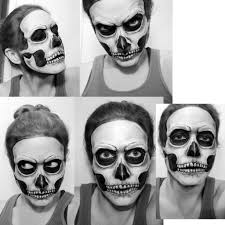 skull makeup day of the dead by jencoates on deviantart