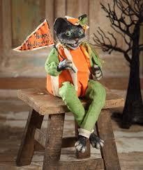 vergie lightfoot for bethany lowe halloween pumpkin cat retired