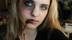 halloween vampire makeup half vampire half human youtube