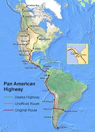 Map Of South America And Caribbean pan american highway wikipedia
