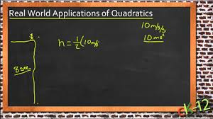 solving real world problems using quadratic equations an