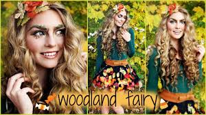 woodland forest fairy makeup hair tutorial and d i y costume idea