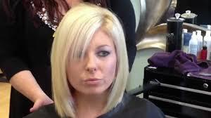 blonde layered bob haircut youtube
