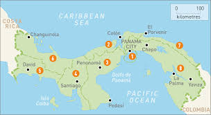 Map Of South America And Caribbean by Map Of Panama Panama Regions Rough Guides Rough Guides