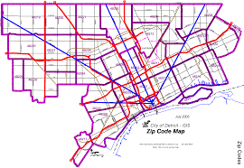 Map Of Detroit Metro Airport by Detroit Zip Code Map U2022 Mapsof Net