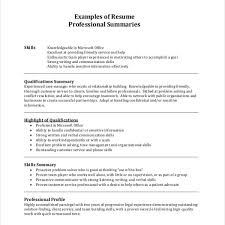 Resume Summary Examples Customer Service by Pleasurable Resume Summary Examples 8 Example Cv Resume Ideas
