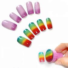 aliexpress com buy 1set nail art stamping plates sponge stamps