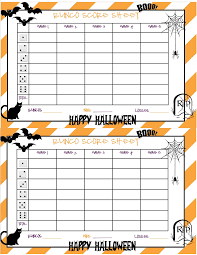 recipes from stephanie halloween bunco sheet