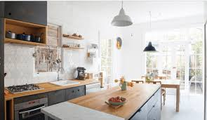 interiors scandinavian kitchen with dark kitchen cabinet with